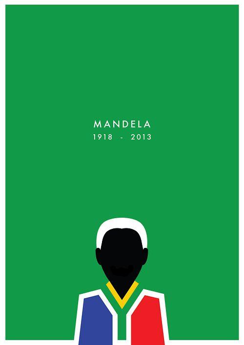 • design south africa RIP graphic design minimal rest in peace artists on tumblr nelson mandela Mandela crazythewizard •