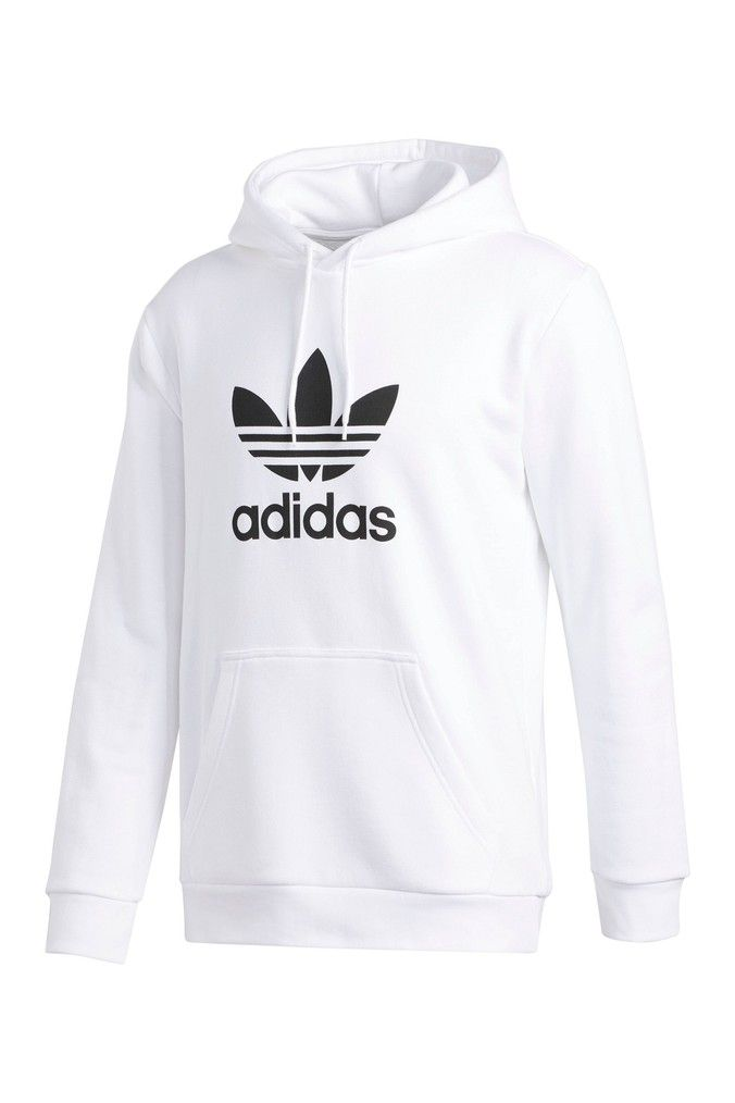 Mens Adidas Originals White Trefoil Hoody White Adidas Trefoil Hoodie Adidas White Hoodie Adidas Sweatshirt