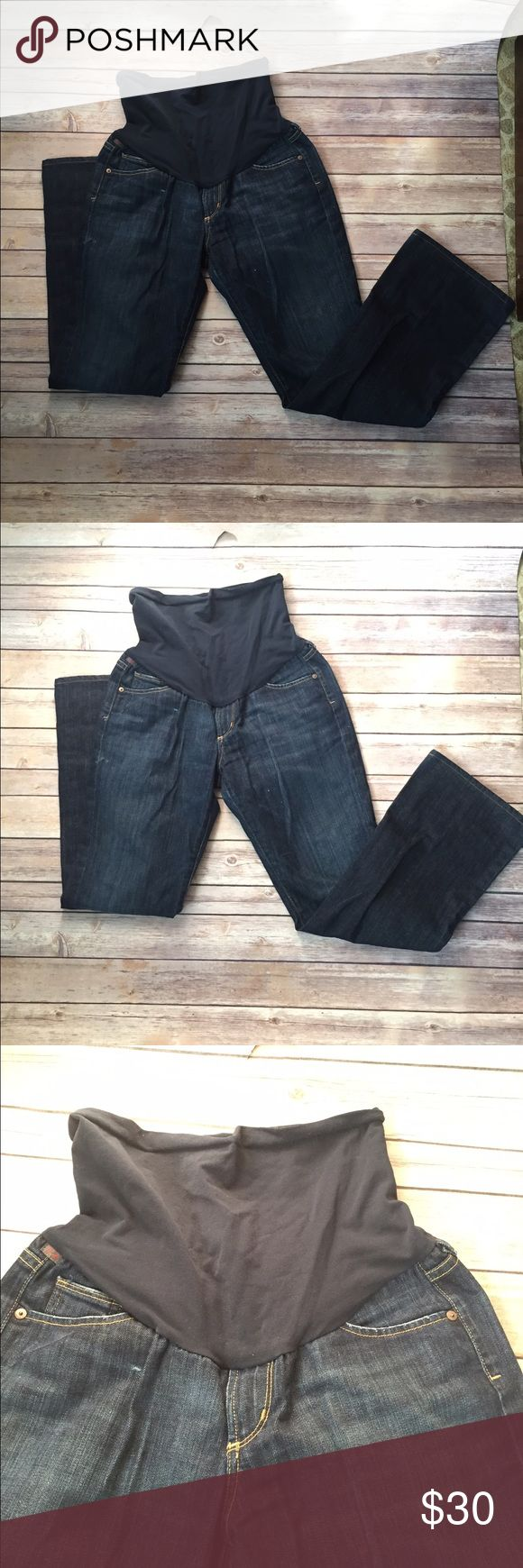 Citizens for Humanity dark wash jeans Citizens for Humanity dark wash boot cut/slight flare maternity jeans. These are practically new. Very good condition. Fit well very comfy. Super comfy waist band. Citizens of Humanity Jeans Boot Cut