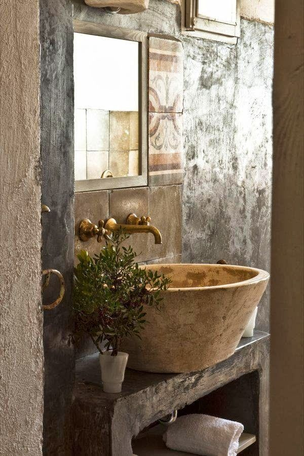 Beautiful wall finish | Guest Suite at Masseria Potenti (Italy)