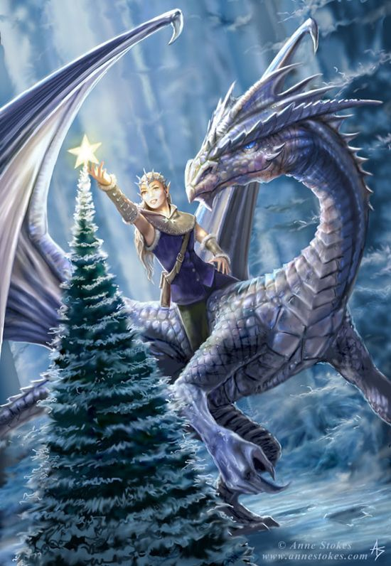 Winter fantasy by Anne Stokes