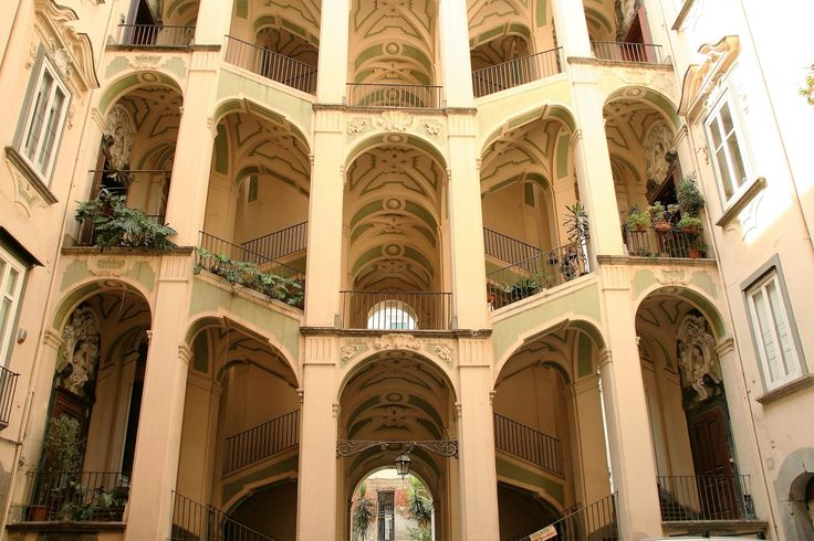 Cortile dello Spagnolo - Cortile dello Spagnuolo, in Naples is one of the masterpieces of Sanfelice architect in XVIII.