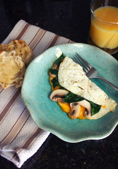 Egg White Omelet with Spinach and Mushrooms | Culinary Content Network ...