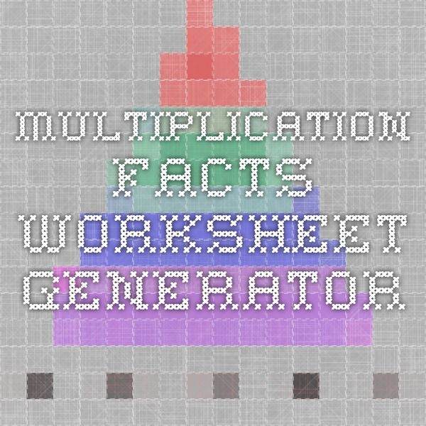 Las 25 mejores ideas sobre Multiplication Facts Worksheets en – Multiplication Facts Worksheets Generator