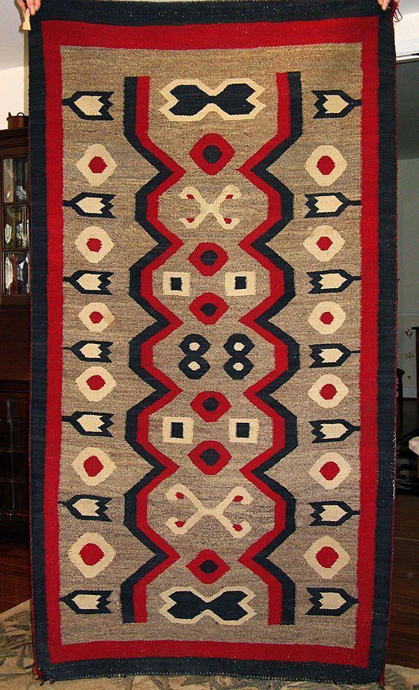 Western Reservation Navajo Weaving / Navajo Rug, Ca. 1910 BL