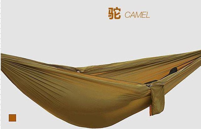 Double Hammock Camping Survival Hammock Parachute Cloth Portable Double Person Hammock PARACHUTE HAMMOCK 260*140 CM