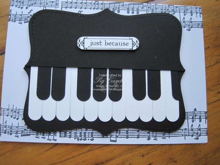cute Piano... using the SU Word Window Punch... and top note die
