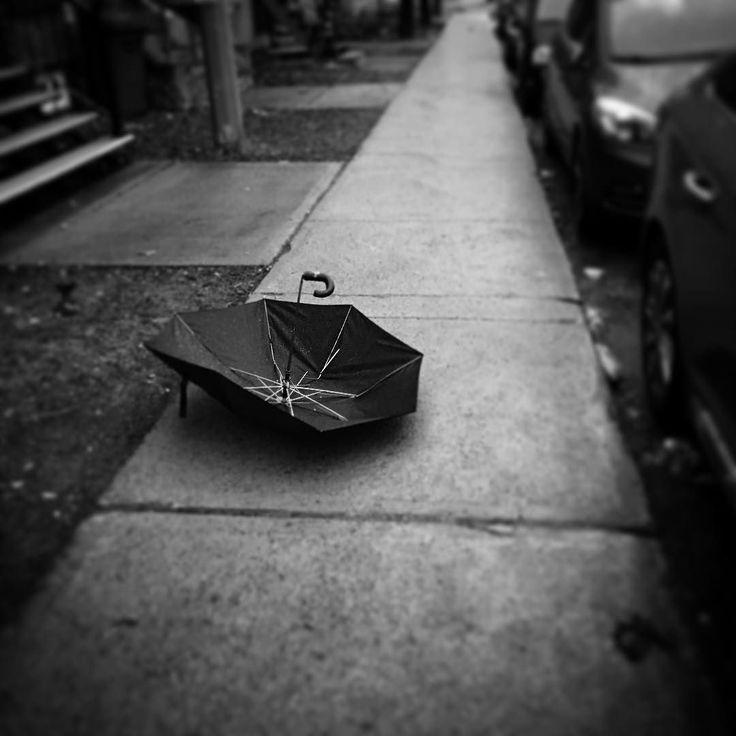 Boulevard of broken umbrellas. #mtl #Montreal #verdun
