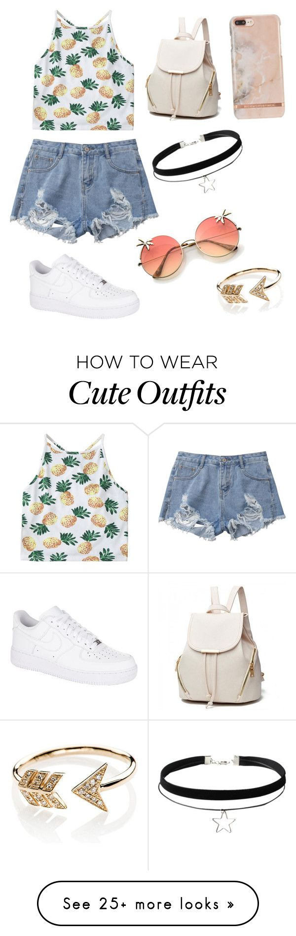 """Cute summer outfit"" by surabikiki on Polyvore featuring NIKE and EF Collection"