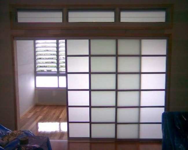 Can make these from curtain panels from iKea Sliding Shoji Doors