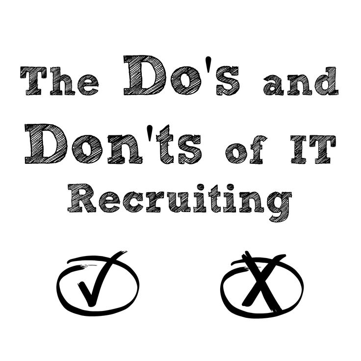 There are certain rules recruiters must play by and