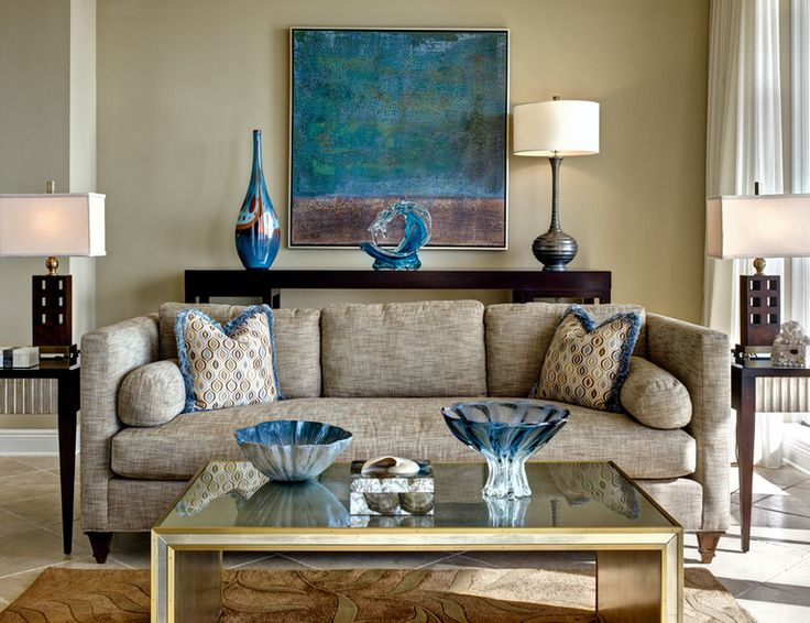 Try a floater frame for your painting! Interior designing by Gribble Interior.