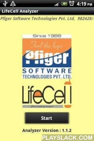 LifeCell Analyzer PFIGER  Android App - playslack.com , Financial Adviser on Mobile• Human Life Value : Suggest Human Life Value as per Client's Age, Income & Family Expense and calculates the Required Life Cover for the Client.• Value of Wealth : Suggest the Insurance of the client considering client's Age, Income & Tax.• Retirement Calculation : Suggest the Current investments for the future needed Pension on Retirement.• Goal Achievement : Finds the time period for future capital…