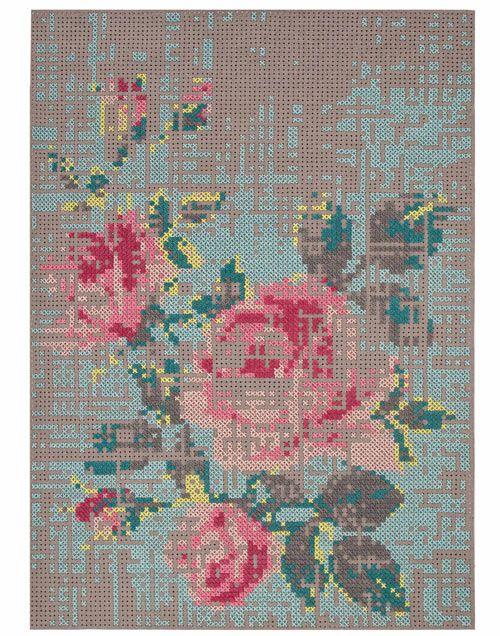 Cross-stitch rug