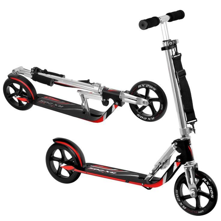 Gift idea: Portable Folding Adult Matte Black Bull Wheel Kick Scooter