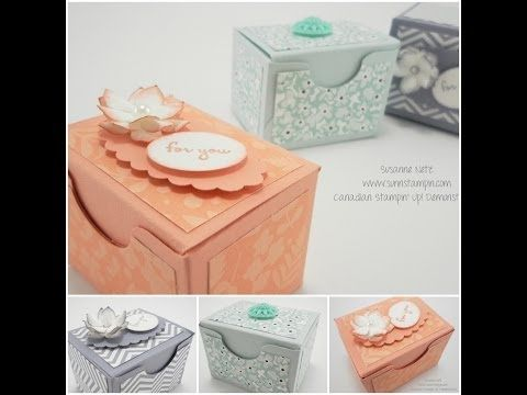 Video Tutorial Friday – Gift Box made with an Envelope Punch Board | SuNN Stampin'