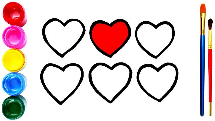 Drawing And Coloring Glitter Heart Cara Menggambar Dan Mewarnai 6