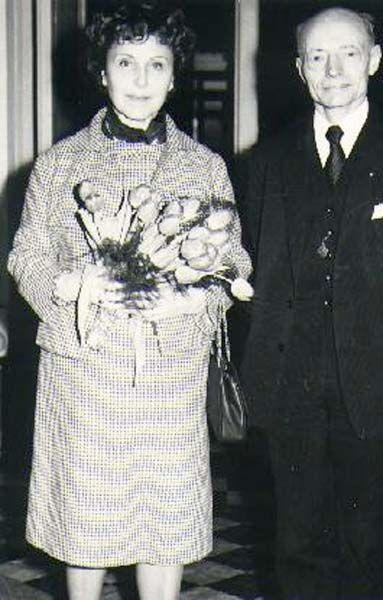 Ghislaine Dommanget and her husband Prince Louis II of Monaco.