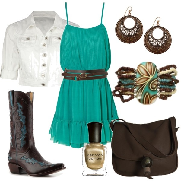 Teal!: Outfits, Dreams Closet, Messenger Bags, So Cute, White Jackets, Country Concerts, Cowboys Boots, The Dresses, Boots Scootin