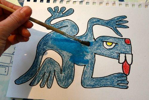 Hands-on Aztec History - Lizard Daysign  #aztecs #homeschoolhistorry #mesoamerica