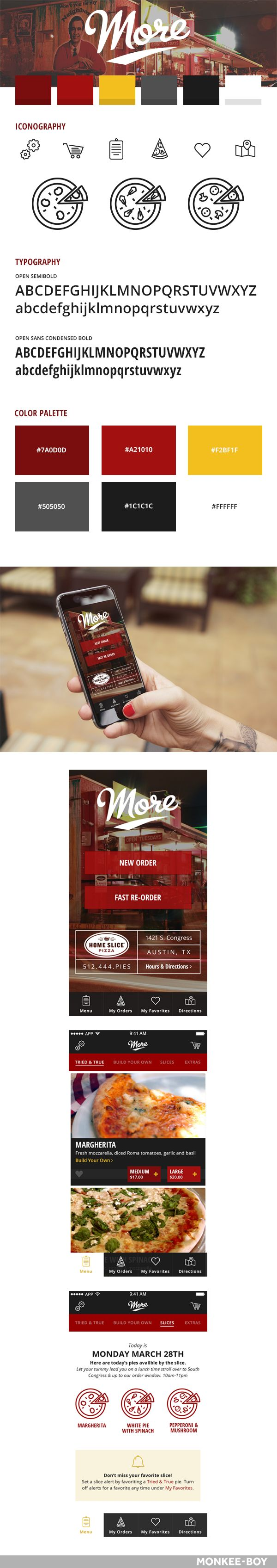 More Home Slice App #StyleGuide #ux #ui #mobile #design
