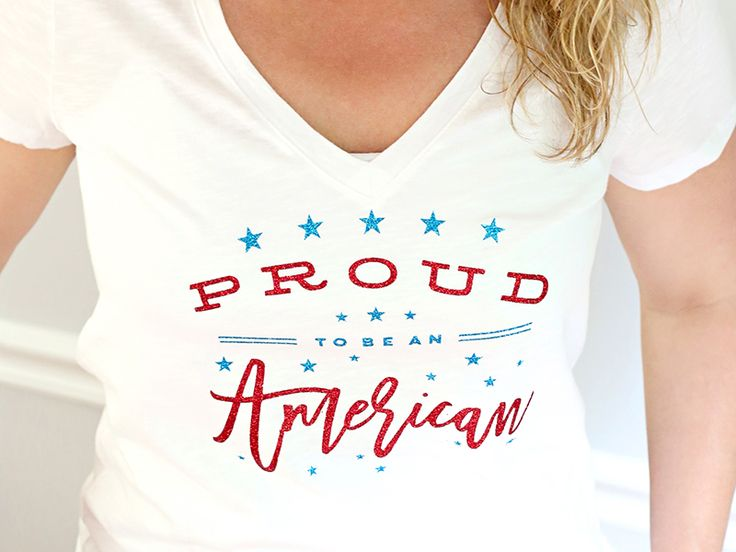 """You can deck out your own Patriotic t-shirt with her stars-and-stripes iron-on, and you'll be dressed for Americana success. """"Meet the Maker"""": Celebration Shoppe – 4th of July 
