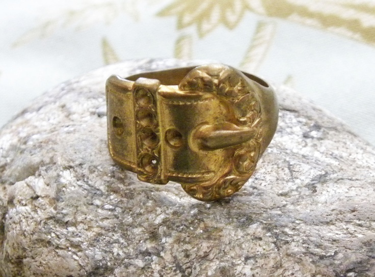 Victorian Brass Buckle Ring
