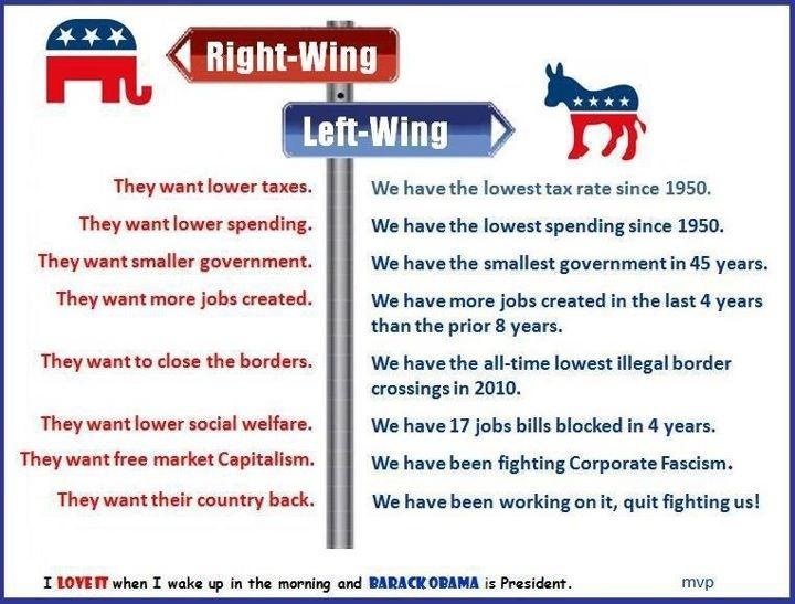 Left v right wing politics