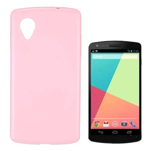 Roze TPU hoesje voor de LG Nexus 5