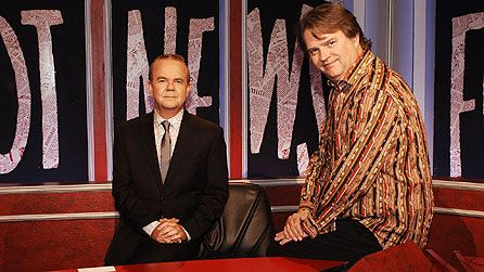 Have I Got News For You - topical news quiz panel show. Has been going for many years now, with the original 2 team captains Ian Hislop and Paul Merton