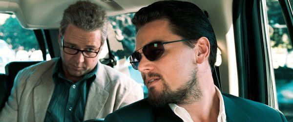 """Still of Russell Crowe and Leonardo DiCaprio in Body of Lies. What was with that southern accent that Leo wasn't consistent with? Also, one little slip by Crowe - he said something like """"are you QUITE finished?"""". American's don't use """"quite"""" that way."""