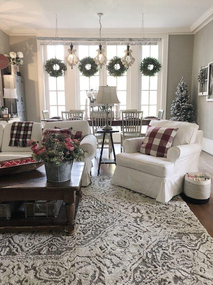 Magnolia Farms Christmas 2020 35 incredible farmhouse living room design ideas and decor 21 in