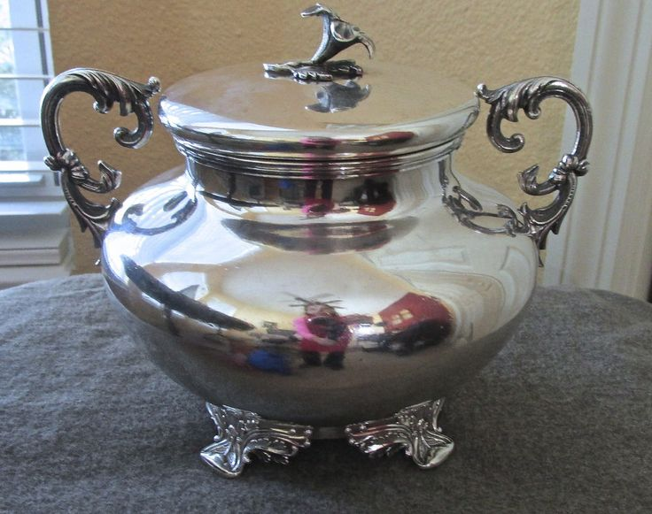 Antique Bailey U0026 Kitchen Coin Silver Covered Sugar Bowl #Baileykitchen $6800