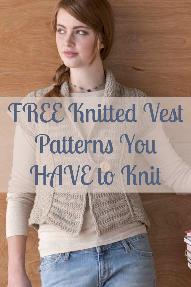 41 best Knitted Vests images on Pinterest | Knitting stitches, Knit ...