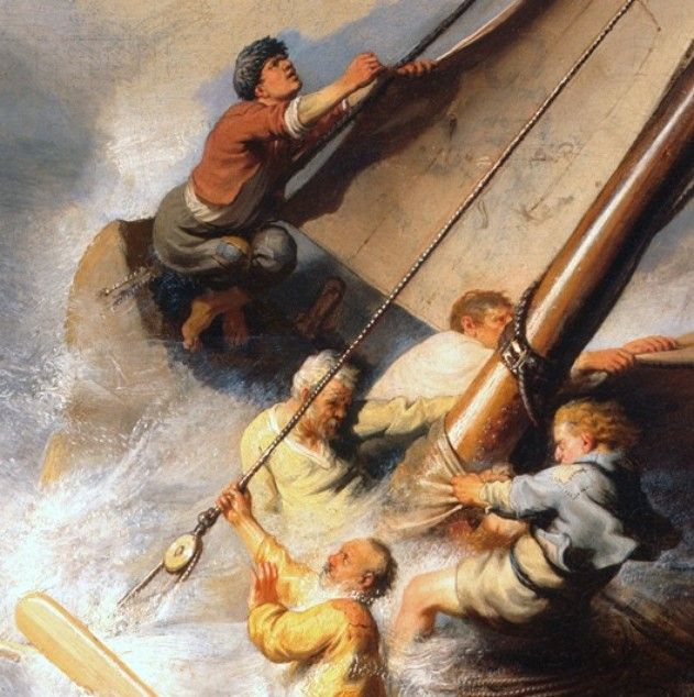71 best art from the scriptures images on pinterest painting art detail from the storm on the sea of galilee rembrandt 1633 publicscrutiny Choice Image