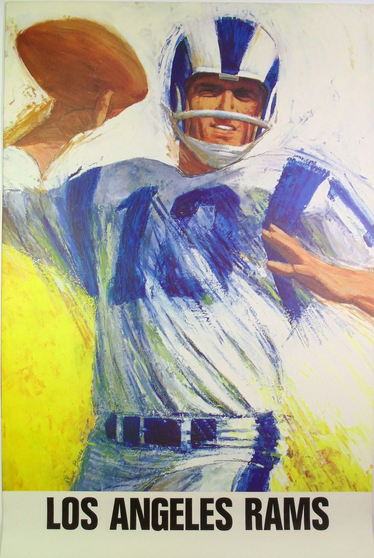 Vintage Rams 1960s NFL poster art by David Boss