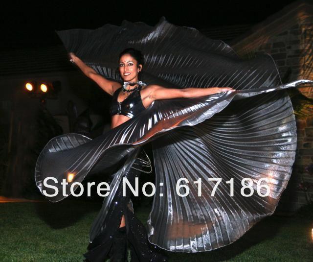 Pas cher [Fly Eagle] Nouvelle Main Du Ventre De Danse Costume IsIs Angle Polyester Ailes Noir couleurs, Acheter    de qualité directement des fournisseurs de Chine:          brillant Danse Du Ventre ISIS Aile7 Couleurs Choisir  [ Fly Eagle ] Egyptian Egypt Belly Dance Isi