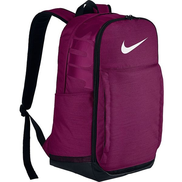 Nike Brasilia 7 XL Laptop Backpack - True Berry/Black/White - Laptop... ($53) ❤ liked on Polyvore featuring bags, backpacks, purple, black and white backpack, nike bags, pocket backpack, laptop rucksack and nike knapsack