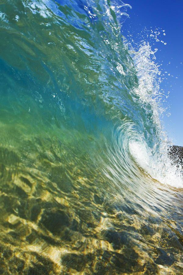 ~~Wave - breaking along the shore, Makena Beach, Maui, Hawaii by Quincy Dein~~