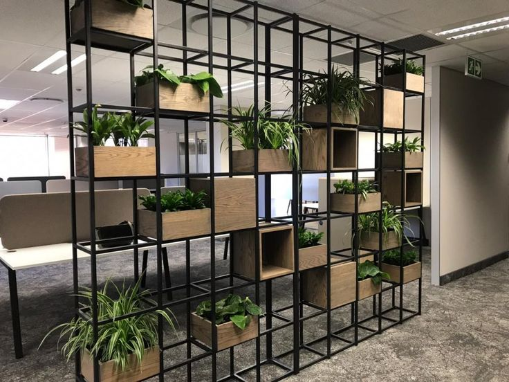 Free standing screen planter room divider freestanding