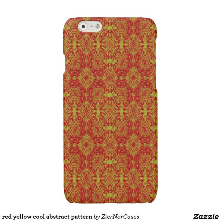 red yellow cool abstract pattern glossy iPhone 6 case