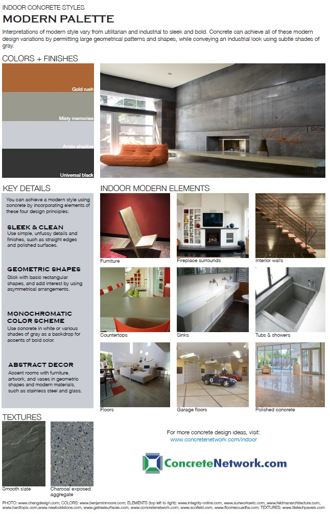 13 best images about modern indoor concrete styles on for Indoor network design