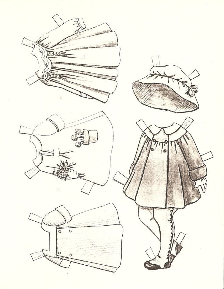 206 best black and white paper dolls images on Pinterest | Paper ...