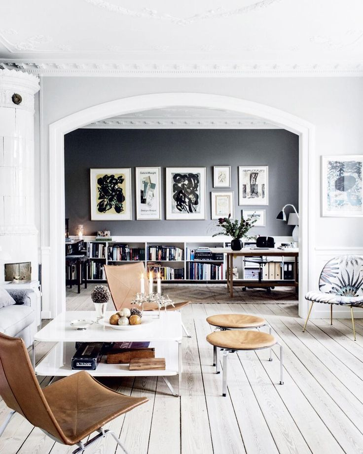 """""""From its gallery wall to its intricate architecture, all of your interior design goals are represented in this Danish home. Tap the link in our bio to see…"""""""
