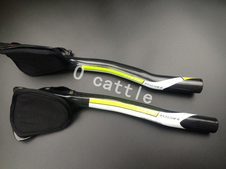 PLATT-P Bicicleta de Fibra de Carbono de Bicicletas de Carreras TT Aerobar resto Manillar 3 K manillar Resto/TT manillar #Affiliate