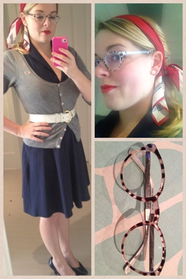 Day 18: a preppy mid of decades. Very old dress from Ruby Rox, the best Nordstrom high heels (brass plum... So comfy), a American Eagle cardi, vintage scarf and belt.