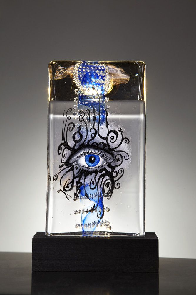 Glimpse Limited Art glass, design by Kjell Engman for Kosta Boda