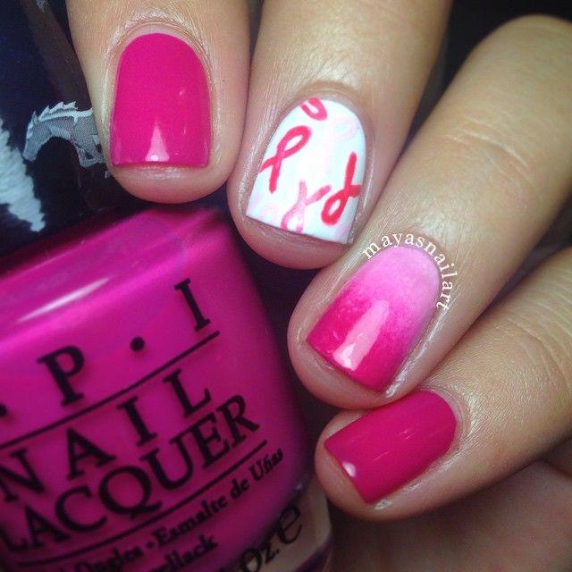 Brustkrebs-Bewusstseins-Nagelkunst   – Pink Nails