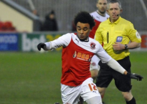 Fleetwood Town's Junior Brown has joined Tranmere Rovers on loan until the end of the season