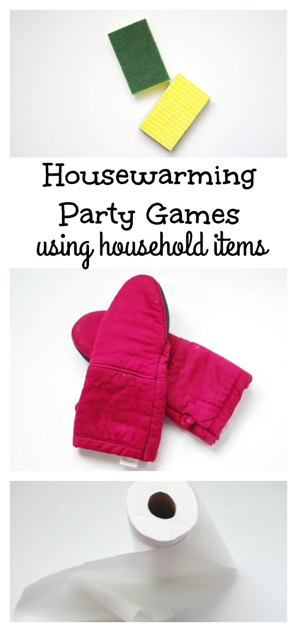 Housewarming party games for a fun and easy games using household items that you will already have when you move in to your new home!